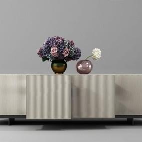 现代装饰柜组合3D模型【ID:928184133】