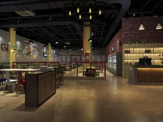 工业餐厅3D模型【ID:120605833】