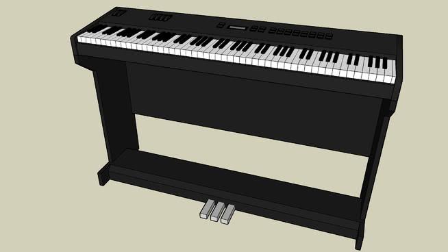 电子钢琴SU模型【ID:940393149】