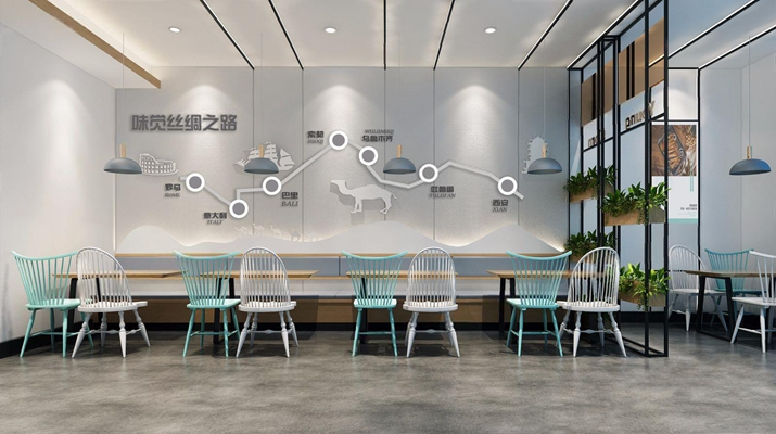 北欧餐厅3D模型【ID:328032937】