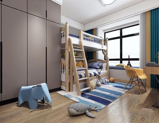 現代兒童房3D模型【ID:128219272】