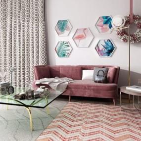 北欧轻奢沙发3D模型【ID:928174715】