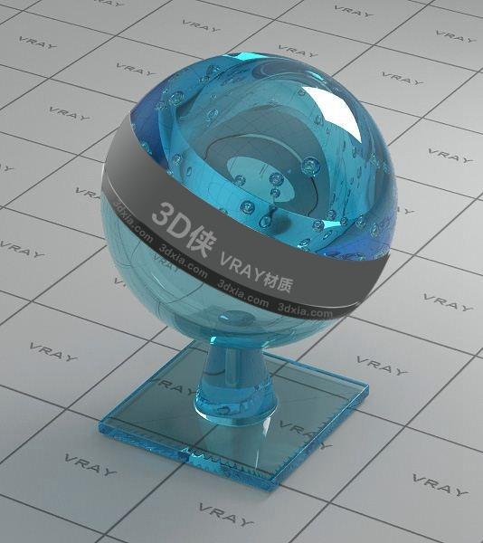 藍色玻璃Vray材質【ID:736522522】