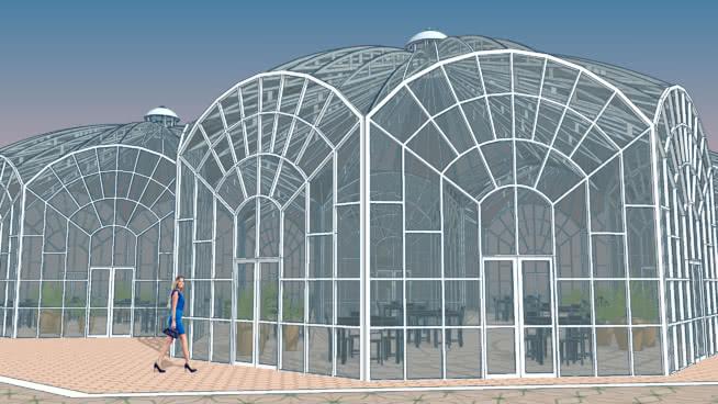 玻璃溫室-16.0915SU模型【ID:539104423】