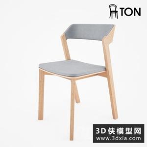 現代木質椅子國外3D模型【ID:729312832】