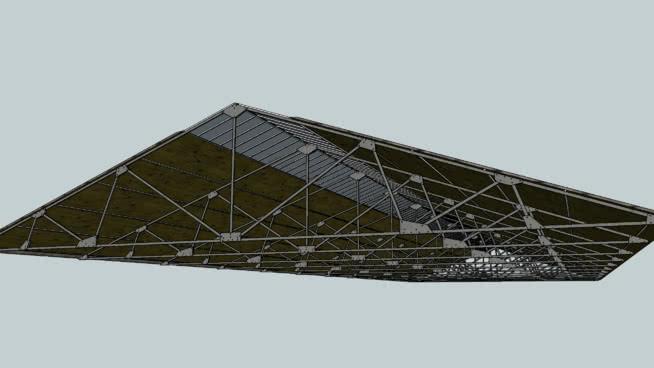 详细厂房屋顶SU模型【ID:839105045】