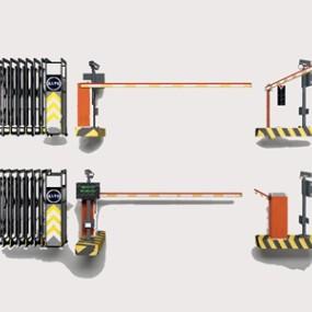 停车收费杆3D模型【ID:928357957】