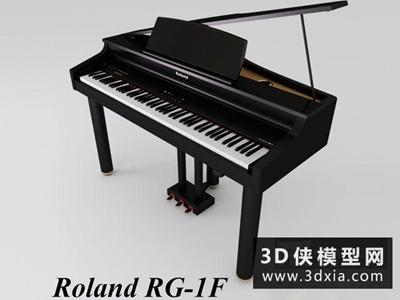 钢琴国外3D模型【ID:229442054】