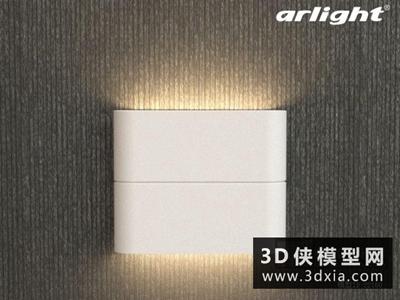 現代壁燈國外3D模型【ID:829431871】