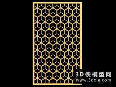 現代中式隔斷國外3D模型【ID:929747562】
