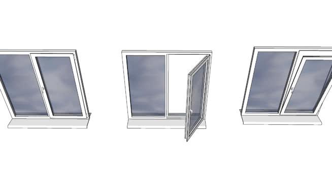 窗户打开,打开一扇窗。SU模型【ID:939111114】
