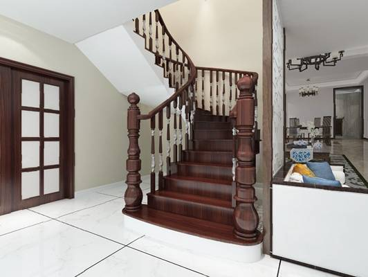 欧式楼梯3D模型【ID:420603569】