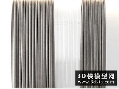 窗帘国外3D模型【ID:329454844】