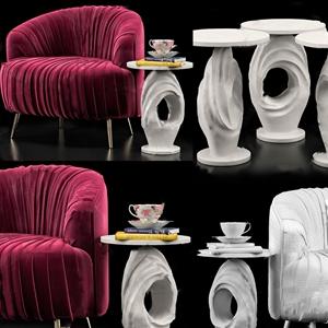 欧式单人沙发3D模型【ID:931409647】