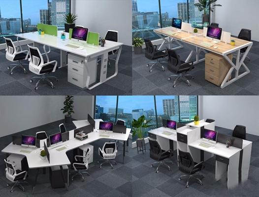 現代辦公桌椅3D模型【ID:427934172】
