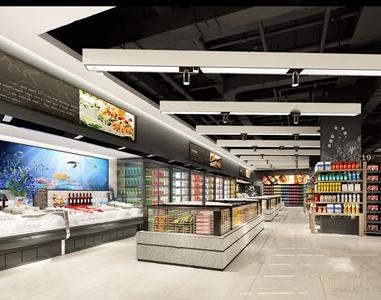 現代超市3D模型【ID:120820782】