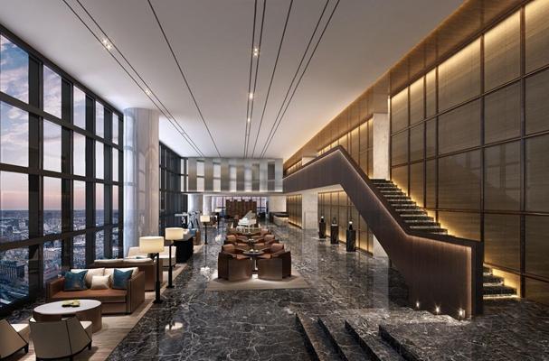 現代酒店大堂3D模型【ID:427973257】