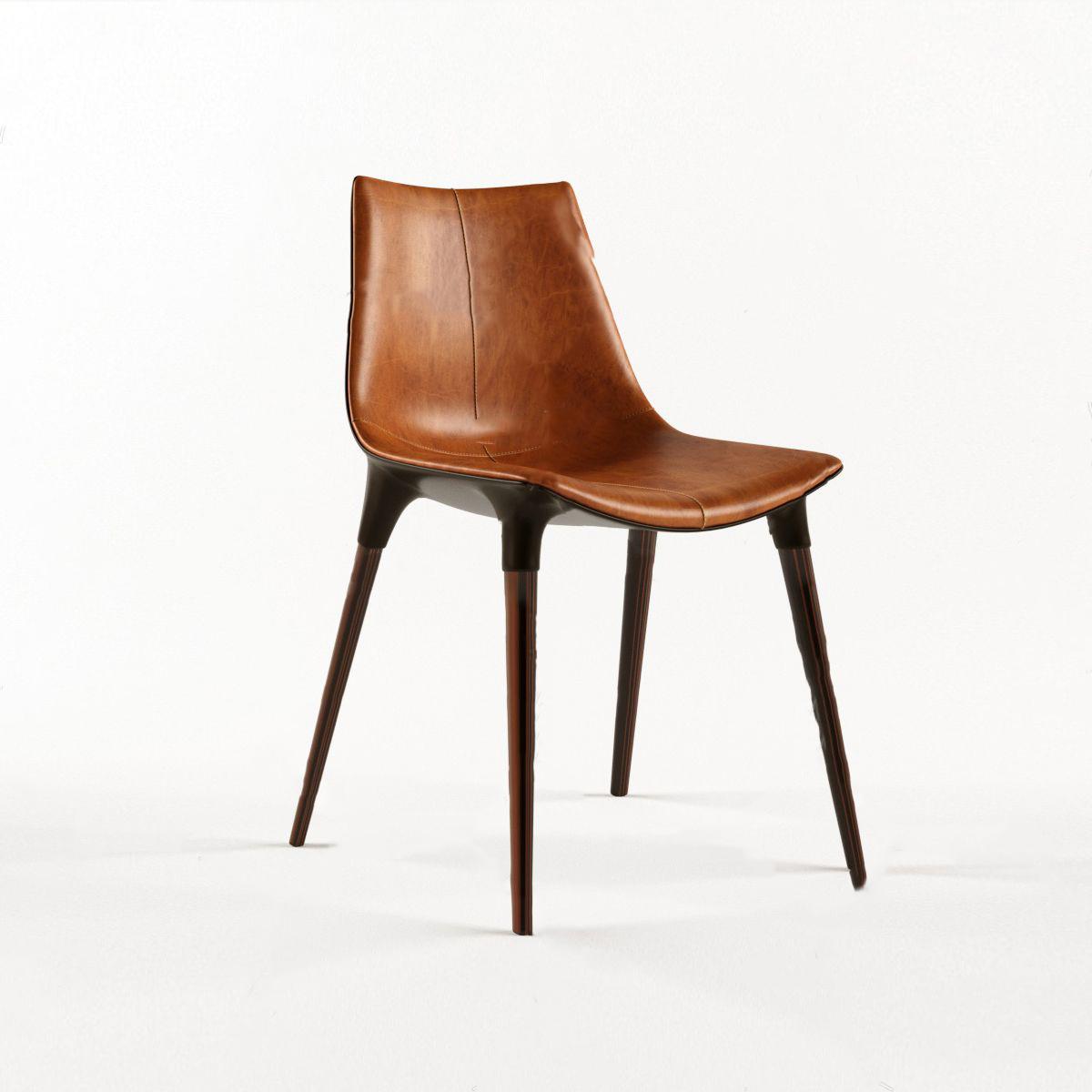 现代皮革单椅3D模型【ID:743093080】