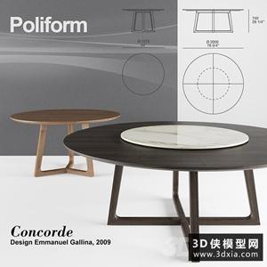 現代木質茶幾國外3D模型【ID:829311142】