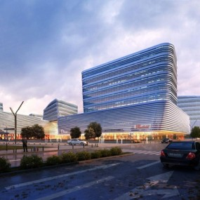 商场建筑外观3D模型【ID:528011417】