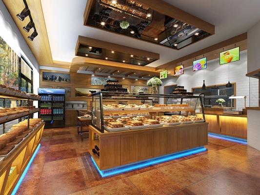 现代面包店3D模型【ID:728065402】