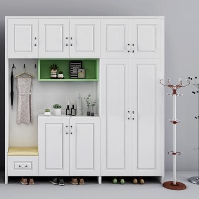 現代實木鞋柜3D模型【ID:928558390】