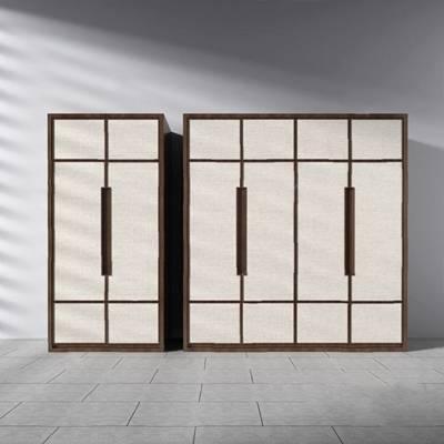 现代衣柜3D模型【ID:920610923】