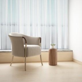 意大利Giorgetti现代单人沙发3D模型【ID:928561674】