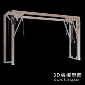 健身器材國外3D模型【ID:129844897】
