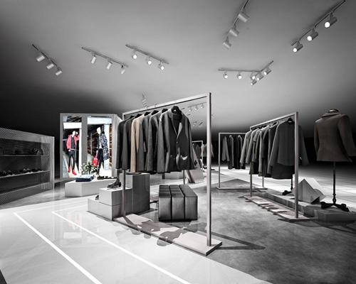 现代服装店3D模型【ID:528275412】