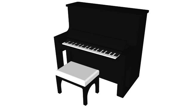钢琴SU模型【ID:439129737】