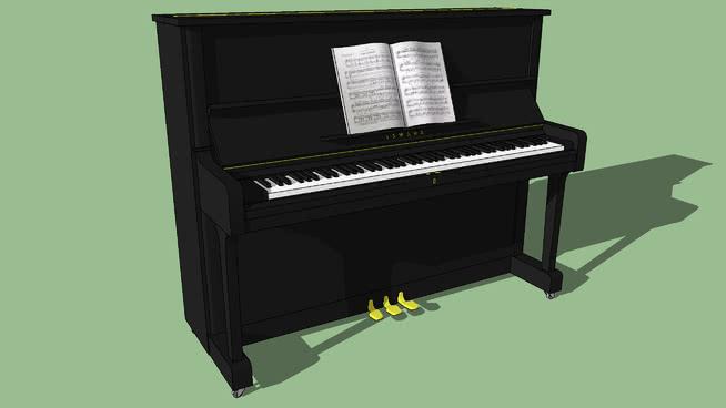 雅马哈立式钢琴SU模型【ID:940409112】