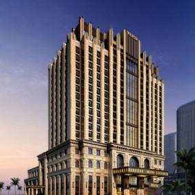 现代酒店建筑3D模型【ID:326225524】