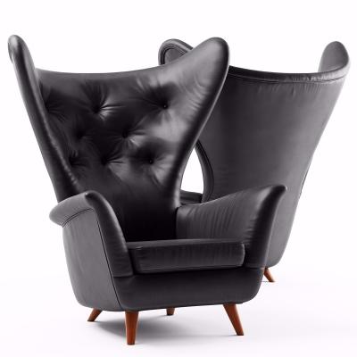 现代皮革休闲沙发3D模型【ID:127766213】