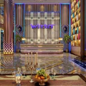 现代大厅3D模型【ID:124895868】