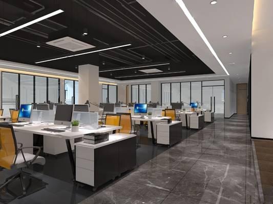现代办公室3D模型【ID:324887542】