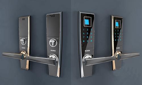 现代指纹密码电子锁3D模型【ID:720798788】