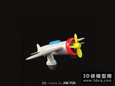 飞机玩具国外3D模型【ID:129866966】