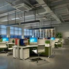 现代办公室3D模型【ID:728063679】