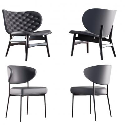 現代單椅組合3D模型【ID:227783401】