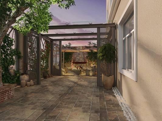 庭院3D模型【ID:320014561】