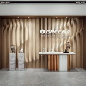 现代办公室形像墙3D模型【ID:728470785】