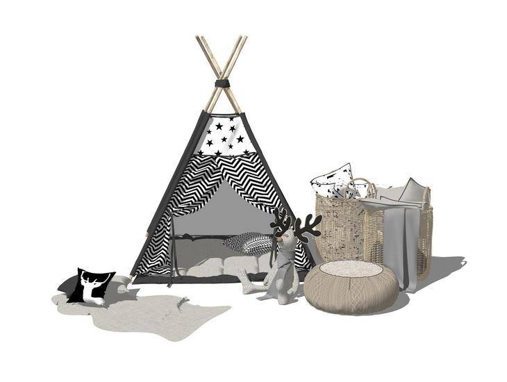 儿童帐篷SU模型【ID:137081022】