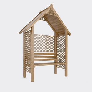 现代公园花园休息椅3D模型【ID:732388528】