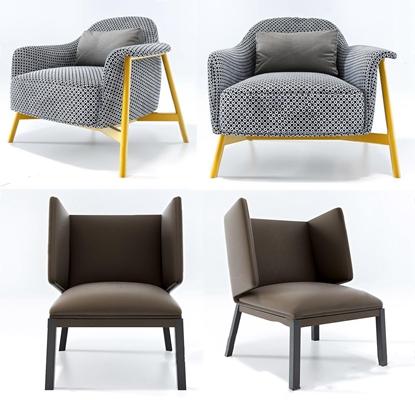 北欧单人沙发3D模型【ID:928191615】