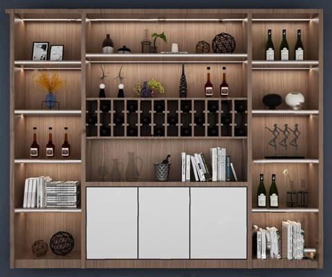 酒柜3D模型【ID:920022060】