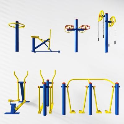 現代戶外健身器材3D模型【ID:927834980】