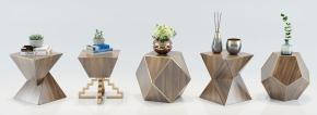 现代角几花瓶摆件组合3D模型【ID:127755350】