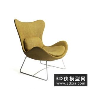 現代休閑椅國外3D模型【ID:729770858】