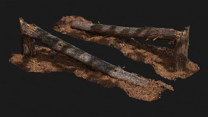现代树干3D模型【ID:320617653】